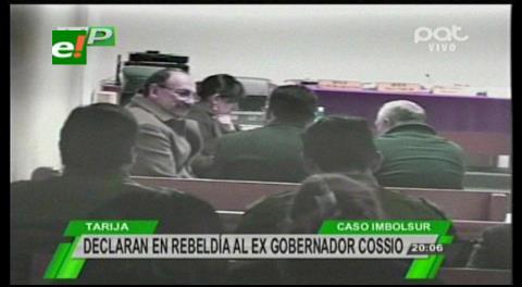 Declaran en rebeldía a Mario Cossío por caso Imbolsur