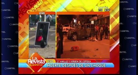 Choque en la Virgen de Cotoca genera caos y un muerto