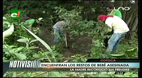 Hallan restos de una bebé asesinada en Cotoca
