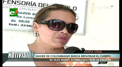 Madre de colombiano abatido por la Policía busca repatriar a su hijo