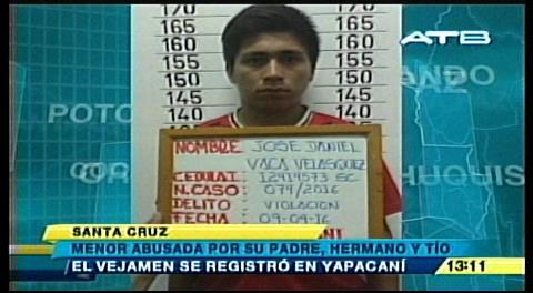 Yapacaní: Menor es violada por su padre y sus hermanos