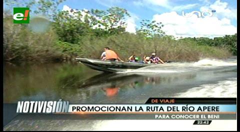 Inician visitas a la ruta turística del río Apere en Beni