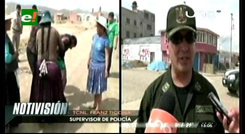 Oruro: Vecinos estuvieron a punto de quemar a presunto ladrón