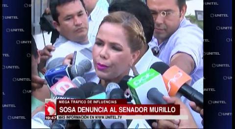 Angélica Sosa presentó una denuncia por violencia política contra el senador Arturo Murillo