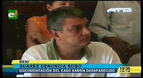 Ernesto Suárez denuncia el robo de documentación del caso motores de luz