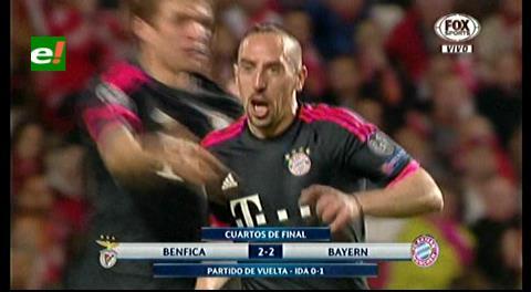 Bayern empata al Benfica y se mete en semifinales