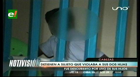 Detienen a hombre que violó a sus hijas de diez y 12 años
