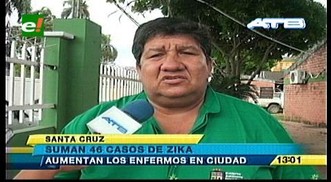 Sedes: 46 casos de zika y 712 de chikungunya en Santa Cruz