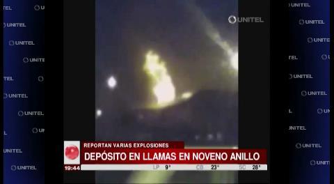 Se incendia un depósito de tiner en el noveno anillo y avenida G77