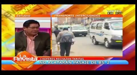 La Paz: Transportistas instruyen desacato respecto a la tarifa de Bs. 2