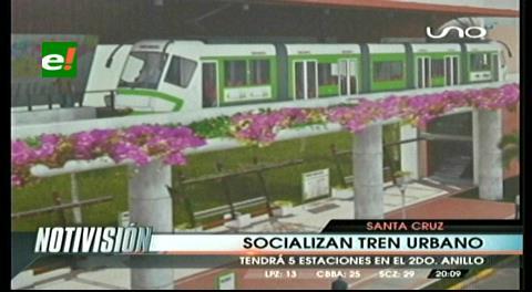 Santa Cruz: Socializan proyecto de tren urbano