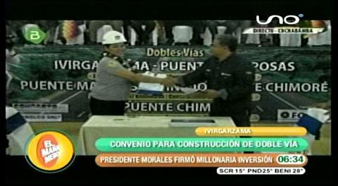 Gobierno firma contrato para construir doble vía Ivirgarzama – Puente Chimoré