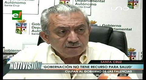 Gobernación y Alcaldía de Santa Cruz ven injustificado el paro de salud