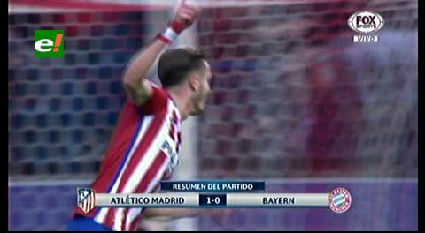 Atlético de Madrid ganó 1-0 a Bayern Munich por Champions League