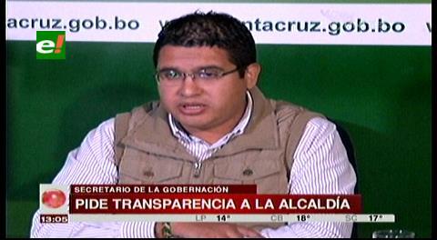 Gobernación cruceña pide a la Alcaldía transparentar sus gastos