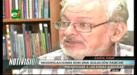 """Prado: """"Modificación en la Santos Dumont es una solución parche"""""""