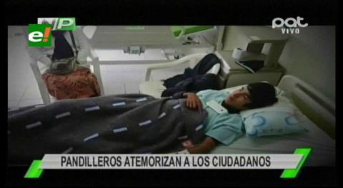 Pandilleros dejan en terapia intensiva a dos adolescentes