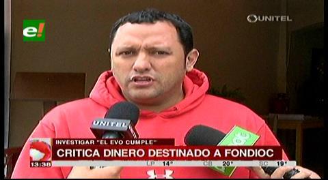 Diputado Dorado critica que se destine nuevamente dinero al Fondioc