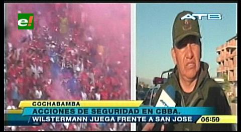 Cochabamba: Extremarán medidas de seguridad en cotejo Wilstermann-San José