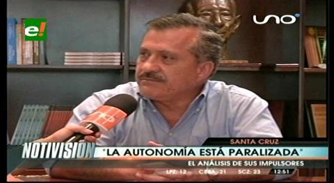 A 8 años de la aprobación de los Estatutos cruceños: Urenda dice que la Autonomía está paralizada