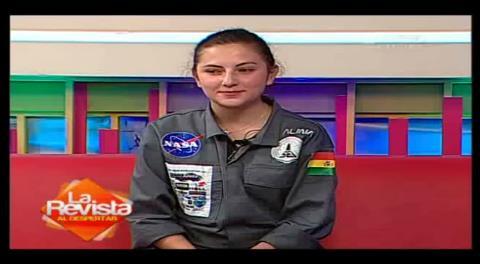 Boliviana gana premio de la NASA por diseño de automóvil lunar
