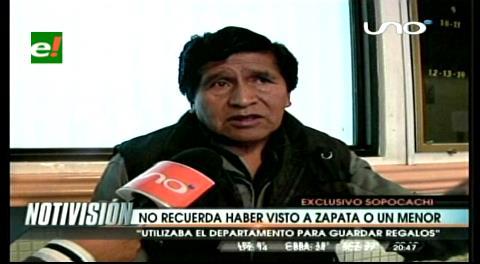 Aseguran que en el departamento de Evo nunca vieron a Zapata o a un menor