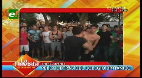 Video: Registran pelea entre jóvenes detrás de un colegio en Santa Cruz