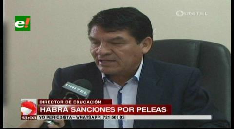 Santa Cruz: Seduca intervendrá unidades educativas donde hayan peleas