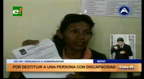 Beni: Denuncian que la Gobernación despidió a una persona con discapacidad