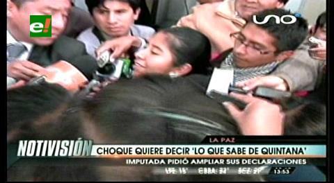 """Choque quiere decir """"lo que sabe de Quintana"""""""