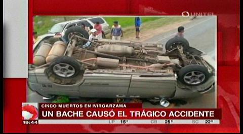 Bache provoca accidente en Ivirgarzama y deja cinco fallecidos