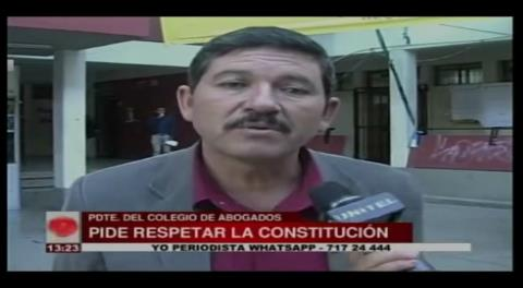 El Colegio de Abogados de La Paz critica la convocatoria a un nuevo referéndum