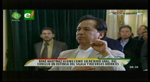 Posesionan a René Martínez en la Dirección de Reivindicación Estratégica del Silala