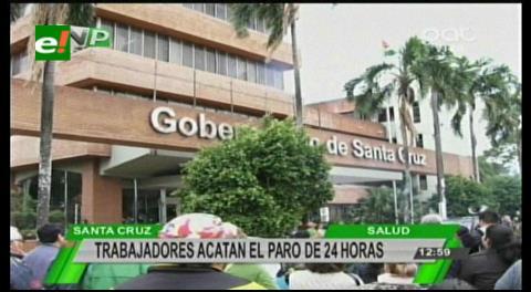 Los trabajadores de salud reclaman a Gobernación cruceña