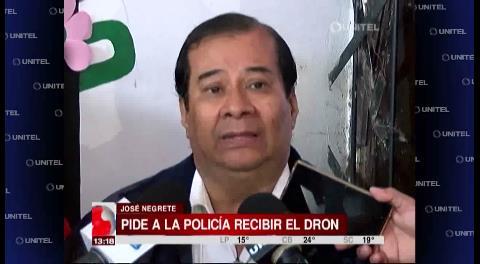José Negrete insistirá en que la Policía acepte el dron y el camión de monitoreo