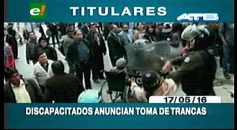 Titulares de TV: Discapacitados radicalizan sus medidas, anuncian la toma de trancas