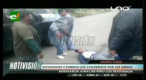 Estudiantes cambian los cuadernos por armas, intentaron atracar pero los detuvieron