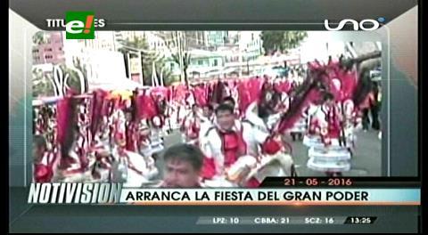 Titulares de TV: Arrancó la fiesta del Gran Poder en La Paz