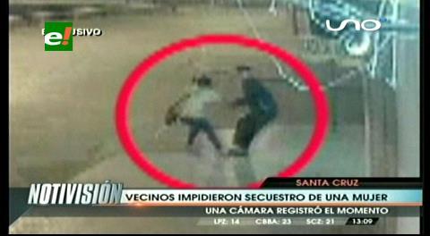 Vecinos impiden el rapto de una mujer