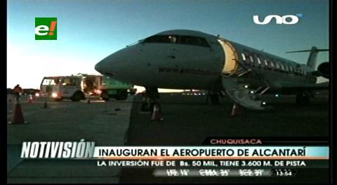 Sucre: Evo entregó el aeropuerto de Alcantarí