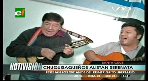 Serenata a Chuquisaca, hoy en el cambódromo