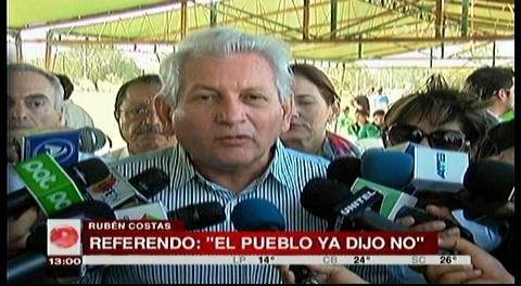 """Costas rechaza referéndum: """"Aquí no es con tribuna ni con árbitro comprado"""""""