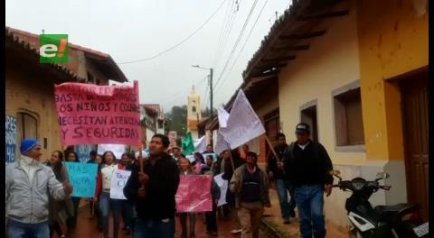 Marcha en Samaipata reclama acción policial contra violaciones