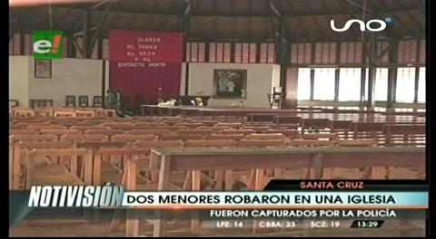 Dos adolescentes roban equipos de una iglesia