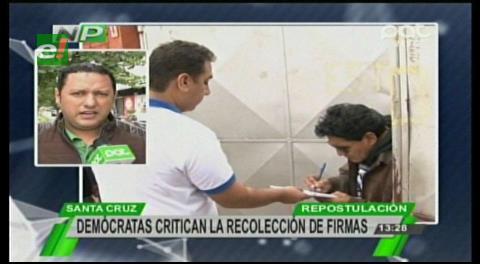 """Diputado Dorado califica de """"payasada"""" la recolección de firmar del MAS"""