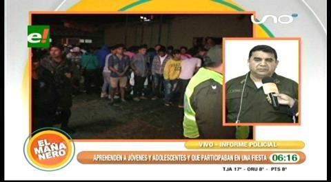 Policía detiene a 300 jóvenes en una discoteca de Santa Cruz