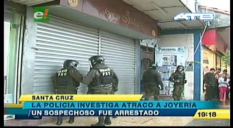 Hombres armados atracan joyería en el centro cruceño