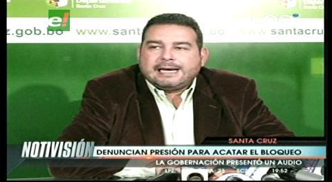 Gobernación: Masistas amenazan con cortar el agua en Saipina sino apoyan el bloqueo