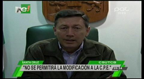Cívicos cruceños rechazan modificación de la CPE para mejorar la justicia