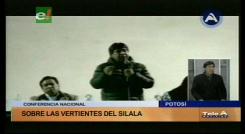 Conferencia nacional sobre las vertientes del Silala en Potosí